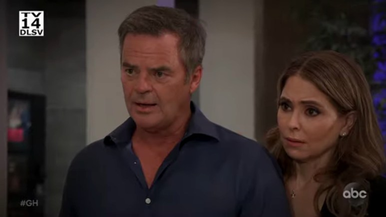 Wally Kurth and Lisa LoCicero as Ned and Olivia on General Hospital.