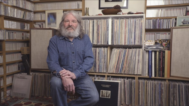 John Shepherd and his music collection.