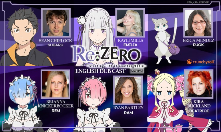 Re:Zero Season 2 English dub cast