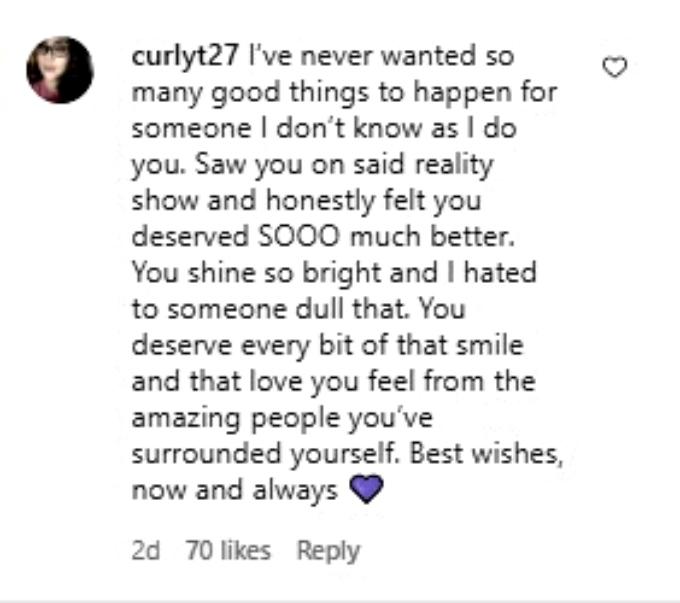 Fans react to Erika Owen's post