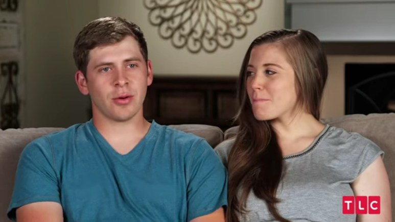 Austin and Joy in a Counting On confessional.