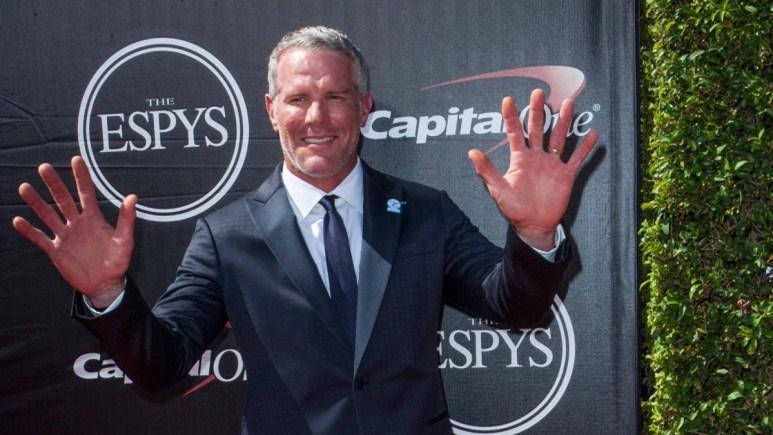Brett Favre on the red carpet