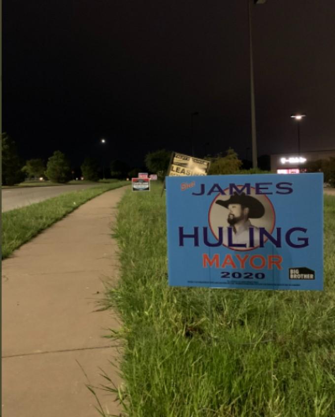 Huling Mayor Yard Sign