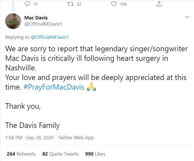 Mac Davis on Twitter
