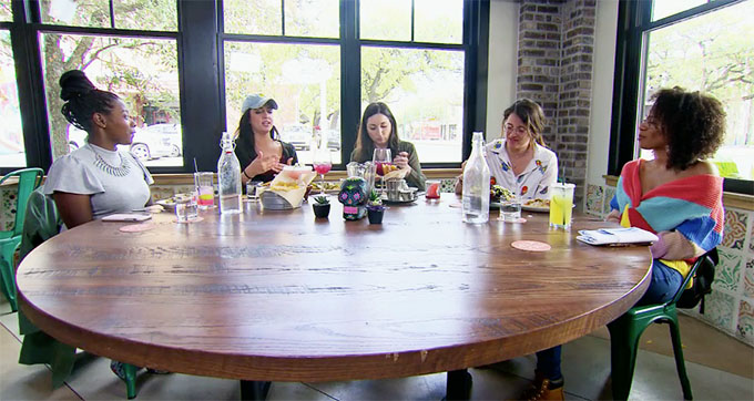 MAFS Season 11 women sitting around table talking