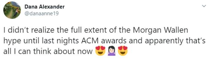 Fan praising Wallen in tweet