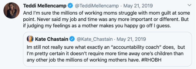 Teddi Mellencamp and Kate Chastain feud Tweet