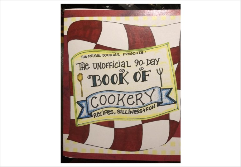 The 90 Day cookbook. Pic credit: TheFrugalDoodler / Etsy
