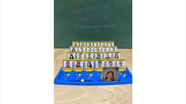 The classic game Guess Who? gets an update. Pic credit: KitschyCandles / Etsy