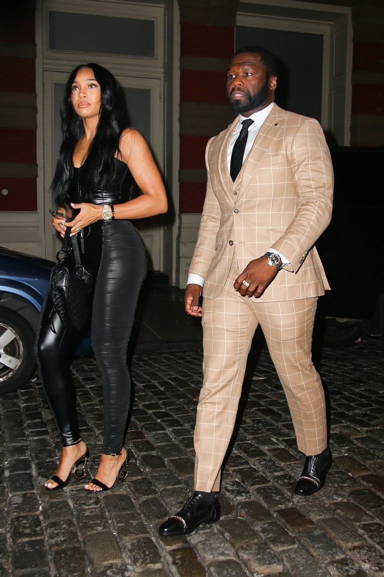 Rapper 50 Cent and Jamira Haines