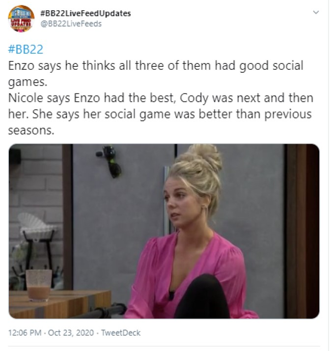 BB22 Social Game Chat