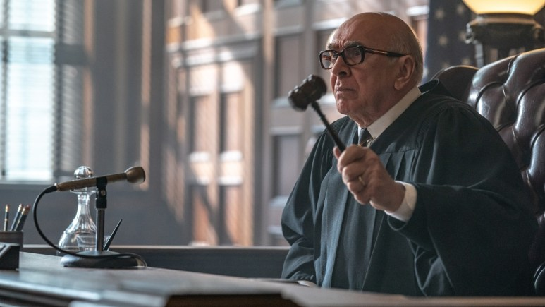 Frank Langella as Julius Hoffman from The Trial of the Chicago 7