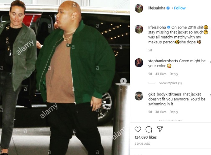 Jacob Batalon shares pic before he lost weight