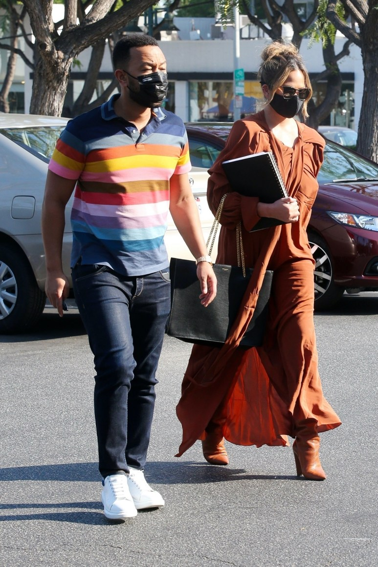 John Legend and Chrissy Teigen in Los Angeles