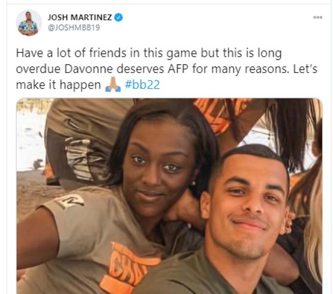 Josh Supports DaVonne
