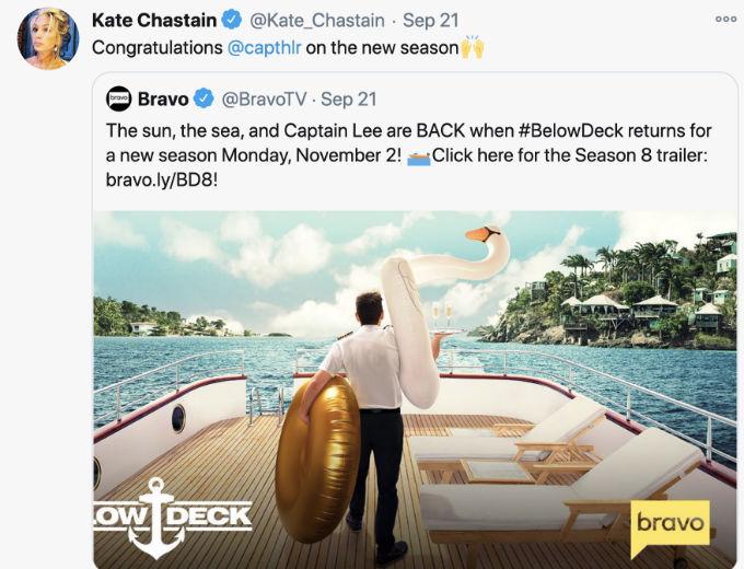 Kate Tweet to Captain Lee