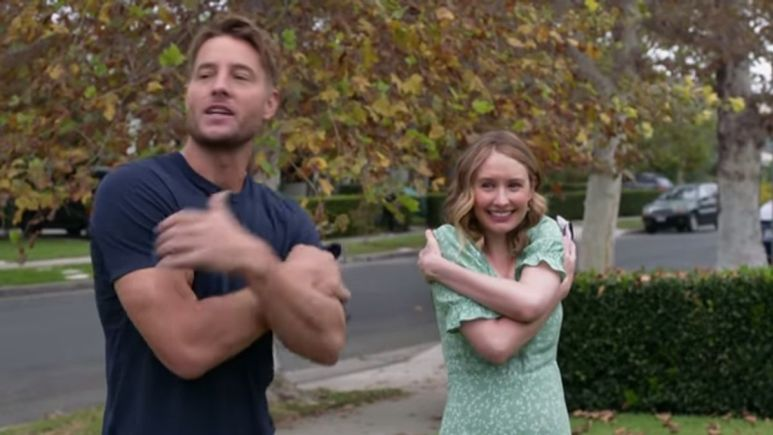 This Is Us' Kevin and Madison show up on Kate and Toby's front lawn