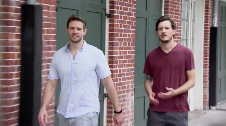 MAFS Season 11 Brett walking with his friend outside