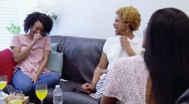 MAFS Karen laughing with girlfriends