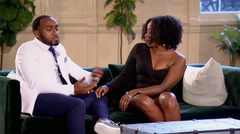 MAFS Season 11 couple Amani holding Woody's hand on decision day