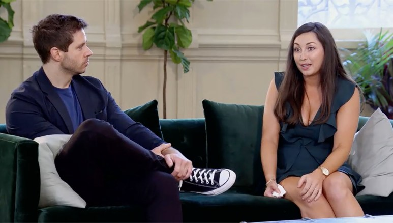 MAFS Season 11 couple Olivia and Brett looking frustrated on decision day