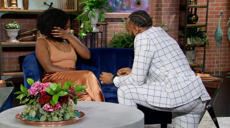 MAFS Woody proposing to Amani with new ring on reunion night