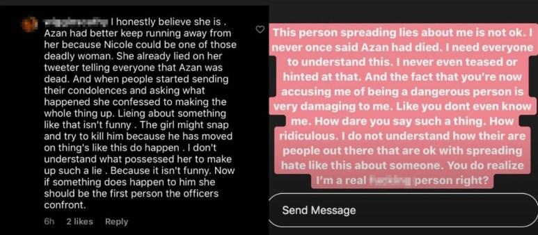 Nicole Instagram story