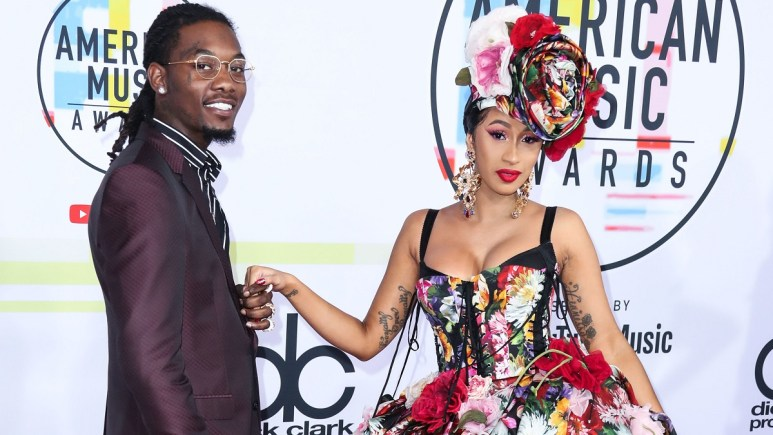 Rapper Offset and Cardi B