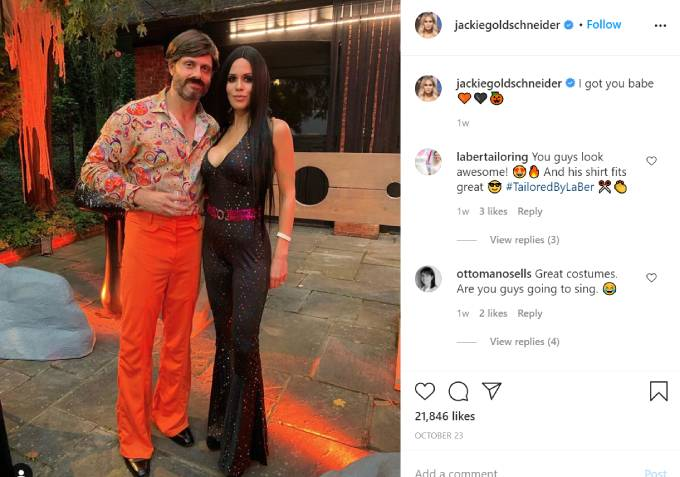 Jackie Goldschneider poses as Cher for Halloween.