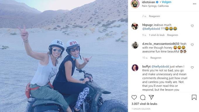 Lauren Sivan poses with her stepdaughter, Veronica Levanthal on an ATV.