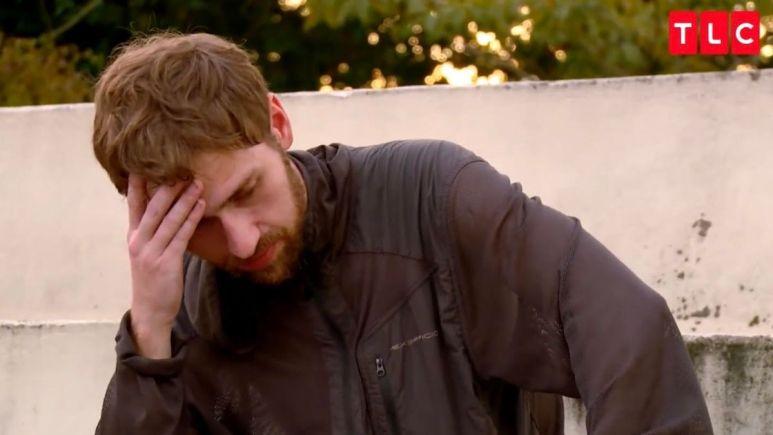 Paul Staehle looks upset after telling Karine the truth