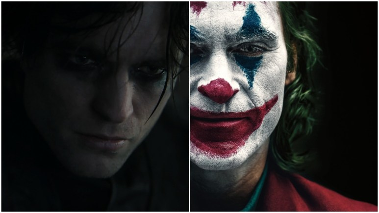 Robert Pattinson as Batman and Joaquin Phoenix as Joker
