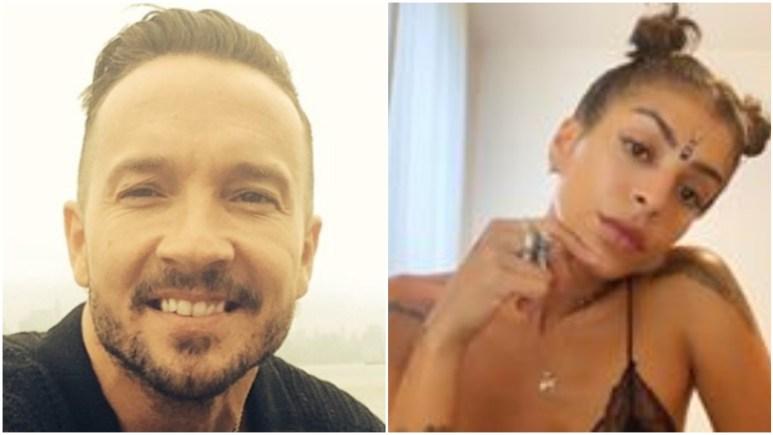 Carl Lentz and Ranin Karim pose for selfie's on Instagram