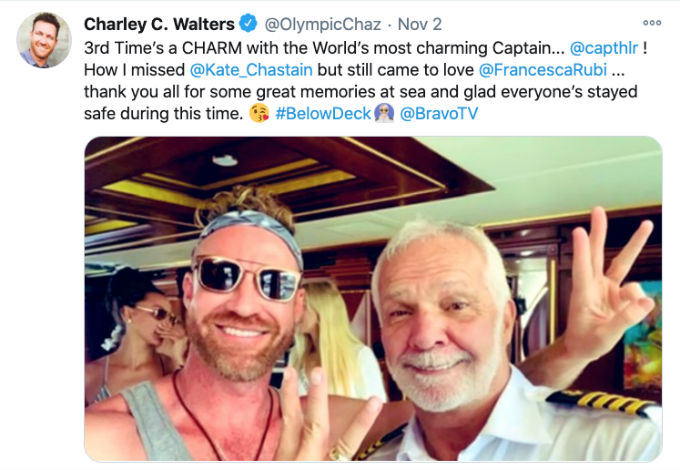 Charley promotes Below Deck stint