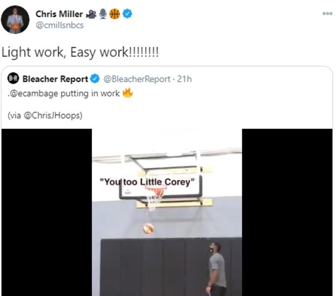 Chris Miller Liz Cambage tweet