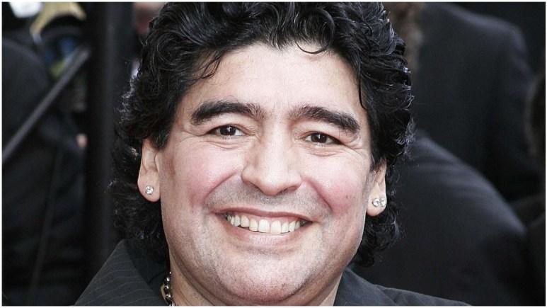 Diego Maradona attending a film festival