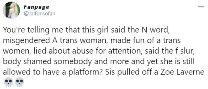 Fan demands Sssniperwolf is de-platformed