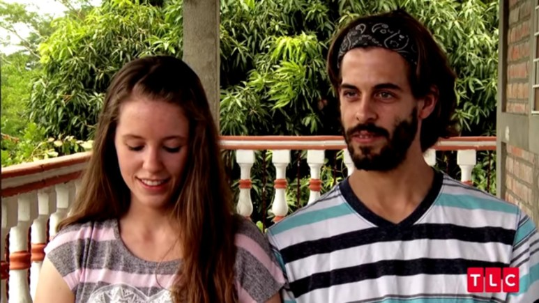 Jill Duggar and Derick Dillard in a Counting On confessional.