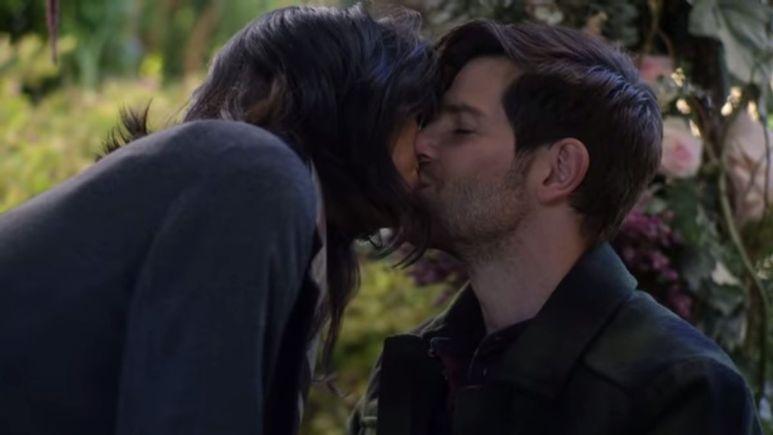 Eddie and Katherine kiss