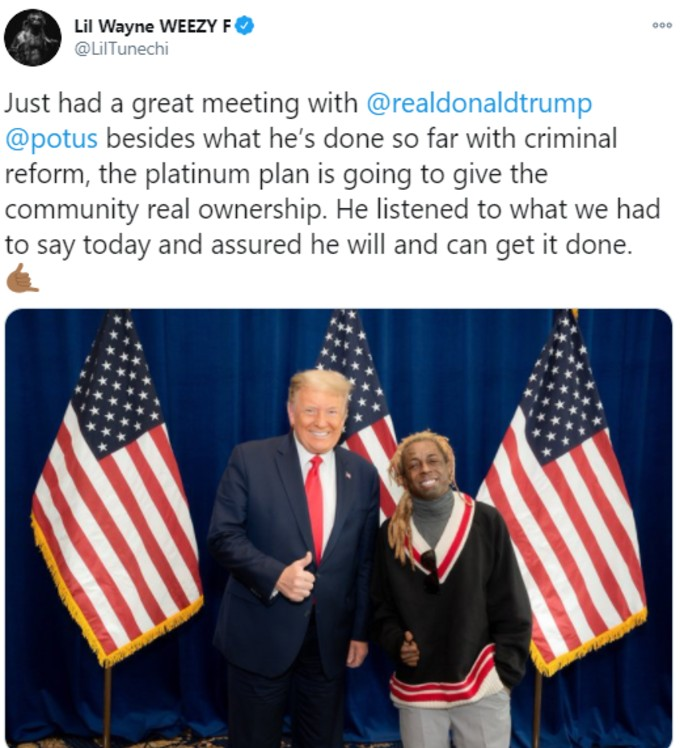 Lil Wayne tweets about Trump