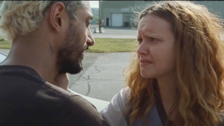 Olivia Cooke and Riz Ahmed in Sound of Metal.