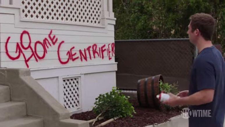 Lip creates graffiti on Shameless