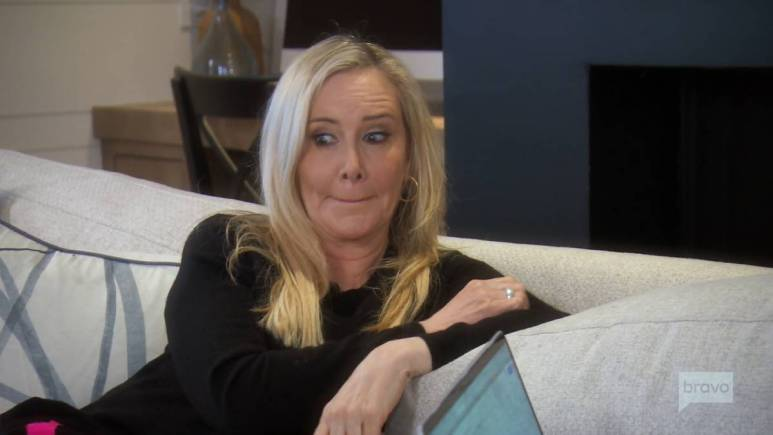 Shannon Beador talks with her daughter Sophie while filming RHOC.