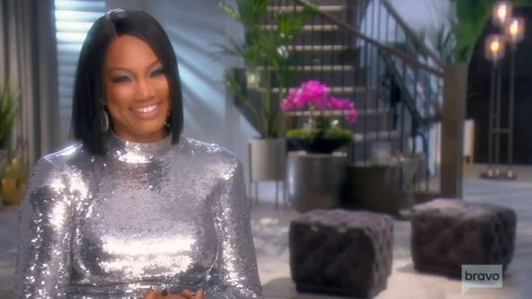 Garcelle Beauvais during an episode of RHOBH