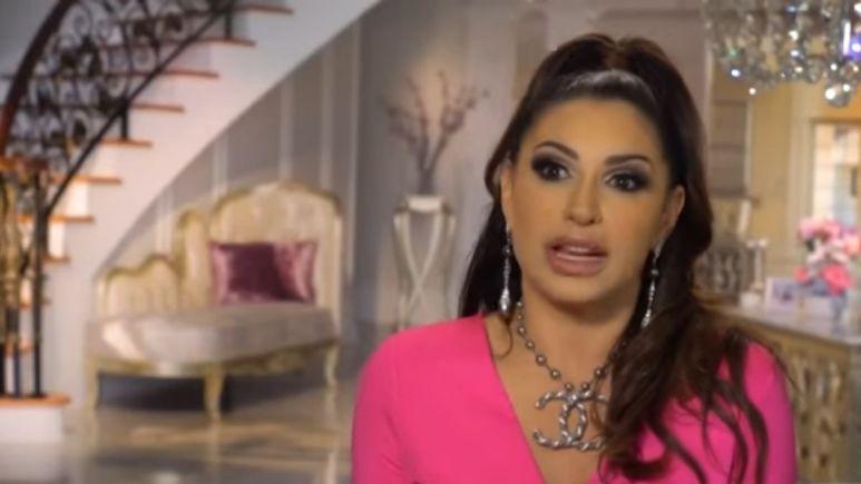 Jennifer Aydin during a confessional interview on RHONJ
