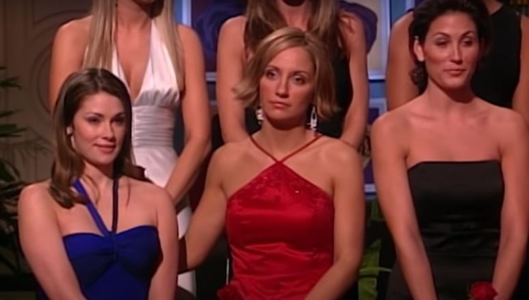 Katie stands with the other girls after Jesse Palmer calls the wrong name