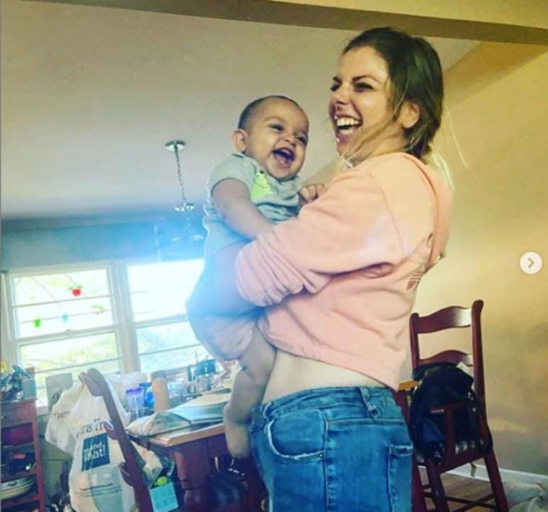 Ariela and baby Aviel
