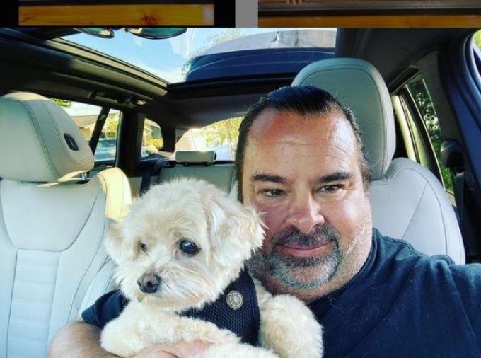 Big Ed and his dog, Teddy.