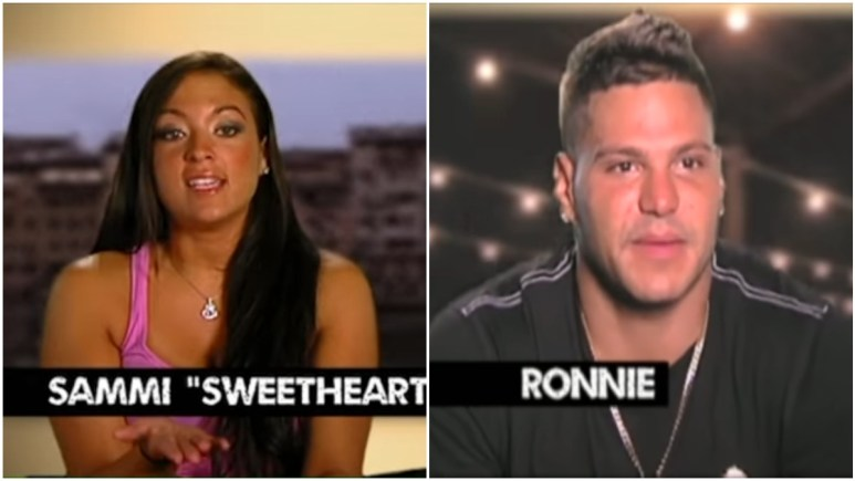 Sammi and Ronnie fight several times while on Jersey Shore