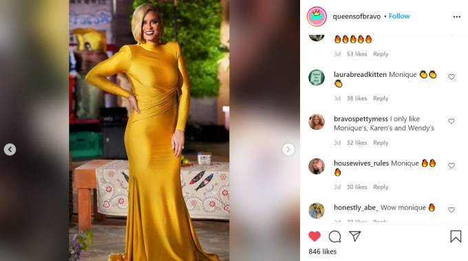 Robyn Dixon wears a canary yellow dress for the RHOP reunion.